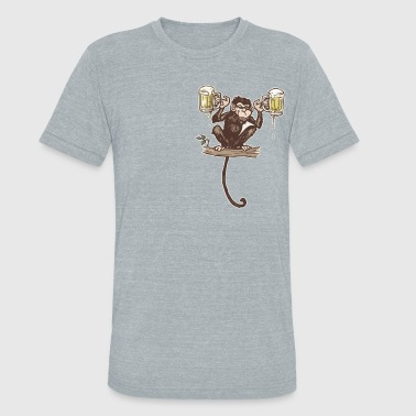 Beer Monkey - Unisex Tri-Blend T-Shirt