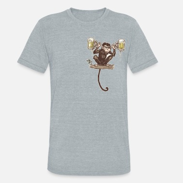 Beer Monkey Beer Monkey - Unisex Tri-Blend T-Shirt