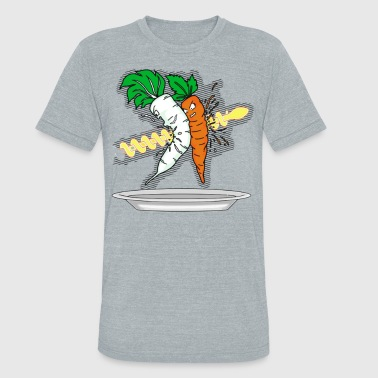 The carrot was shot - Unisex Tri-Blend T-Shirt