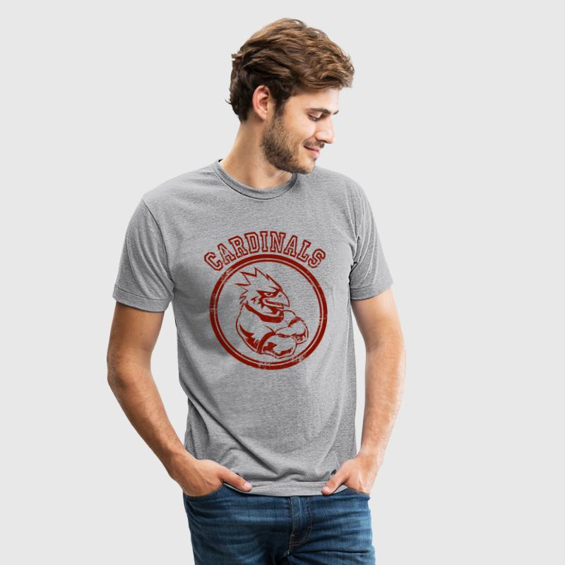 Custom Cardinals Team Graphic Mascot - Unisex Tri-Blend T-Shirt