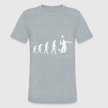 Badminton Evolution White - Unisex Tri-Blend T-Shirt