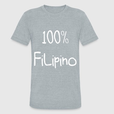 Gift For Filipino 100% Filipino Funny Gift Idea - Unisex Tri-Blend T-Shirt