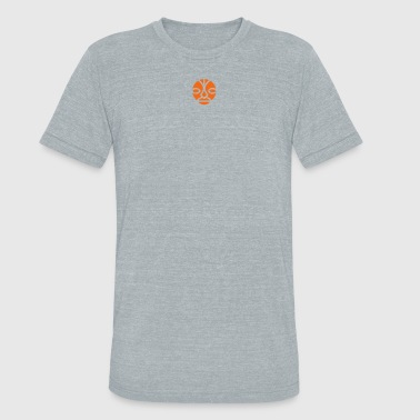 Isle of Humans Face Signet orange - Unisex Tri-Blend T-Shirt