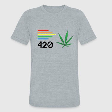 420 Weed Weed 420 Colours - Unisex Tri-Blend T-Shirt