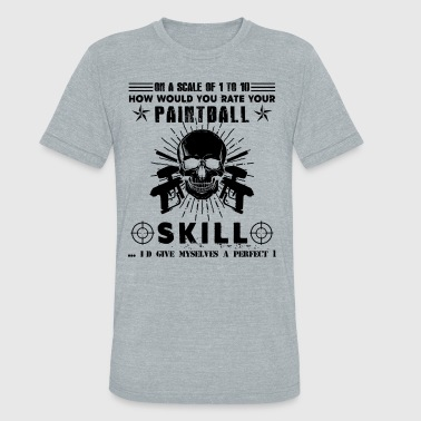 Paintball Player For A Paintball Player Shirt - Unisex Tri-Blend T-Shirt