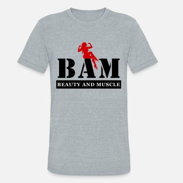 Back Muscles BAM Beauty and Muscle Racer Back Tank Top - Unisex Tri-Blend T-Shirt