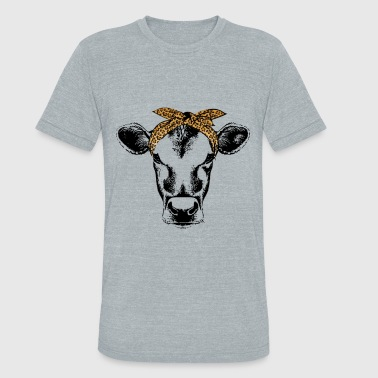 Bandana Cow bandana leopard cute shirt for women and girl - Unisex Tri-Blend T-Shirt