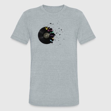 Music Vinyl Musical vinyl - Unisex Tri-Blend T-Shirt