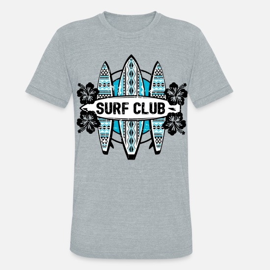 Beach T-Shirts - AD Surf Club - Unisex Tri-Blend T-Shirt heather gray