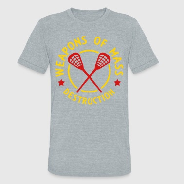 Weapon Mass Destruction Lacrosse Weapons of Mass Destruction - Unisex Tri-Blend T-Shirt