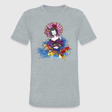 Asian Fish Geisha - Unisex Tri-Blend T-Shirt