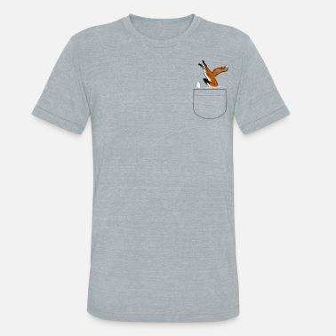 Fox snow Dive - Unisex Tri-Blend T-Shirt