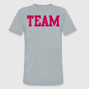team in college font - Unisex Tri-Blend T-Shirt