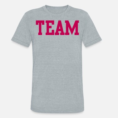 Font Provocative team in college font - Unisex Tri-Blend T-Shirt