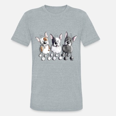 French Bulldog Dog Three French Bulldogs - Bulldog - Dog - Unisex Tri-Blend T-Shirt
