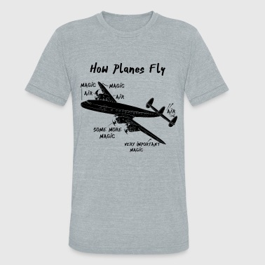 How Planes Fly - Unisex Tri-Blend T-Shirt