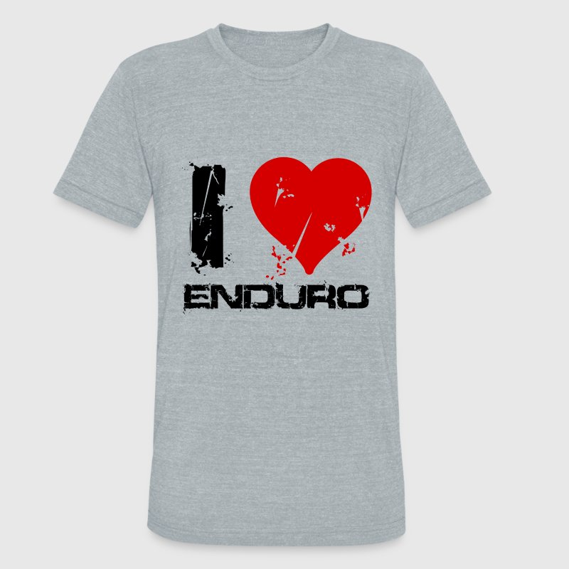 I love enduro - Unisex Tri-Blend T-Shirt