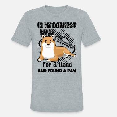 Found I Reached For Shiba Inu Paw Shirt - Unisex Tri-Blend T-Shirt