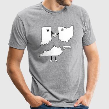 Tri-State Threesome Shirt - Ohio, Indiana and Kentucky  - Unisex Tri-Blend T-Shirt