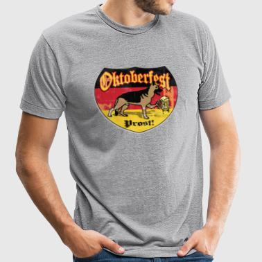 Oktoberfest German Beer Hound - Unisex Tri-Blend T-Shirt