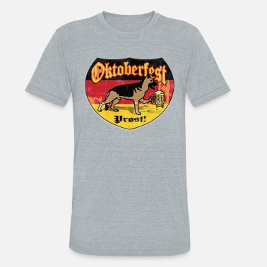 Beer-hound Oktoberfest German Beer Hound - Unisex Tri-Blend T-Shirt