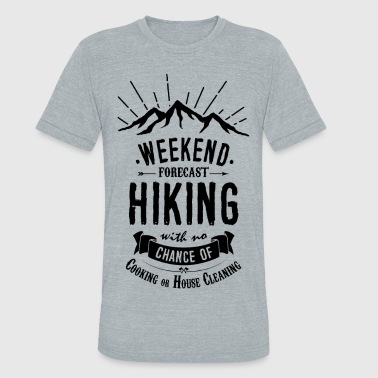 Hiking T-shirt - Weekend Forecast - Unisex Tri-Blend T-Shirt