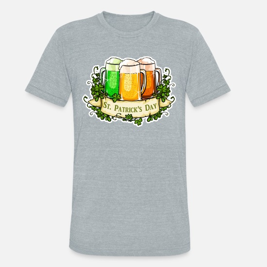 Day T-Shirts - St Patrick's Day - Unisex Tri-Blend T-Shirt heather gray