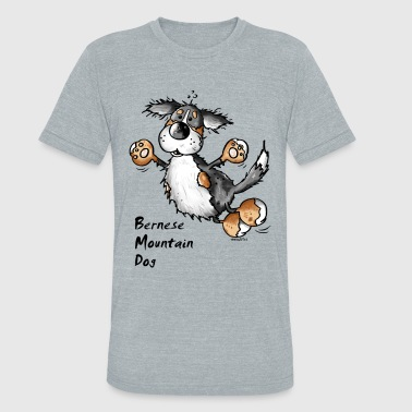 Bernese Mountain Dogs Funny Jumping Bernese Mountain Dog - Unisex Tri-Blend T-Shirt