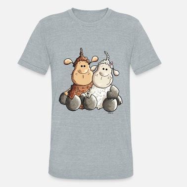 f4eeb7728 Funny Love Sheep Funny Love Sheep - Unisex Tri-Blend T-Shirt