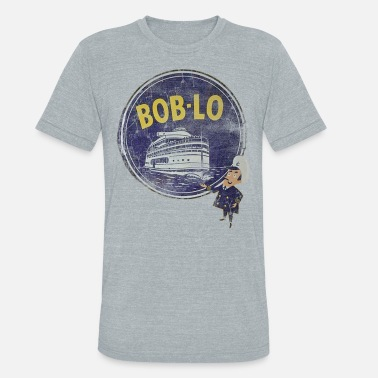 10425418840 Vintage Retro Classic Cute Detroit Boblo Island - Unisex Tri-Blend T-Shirt