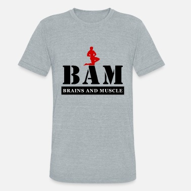 Hood Train BAM Brains and Muscle 3X / 4X L/S Hooded Sweatshir - Unisex Tri-Blend T-Shirt