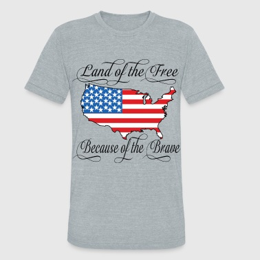 Land of the Free USA Flag - Unisex Tri-Blend T-Shirt
