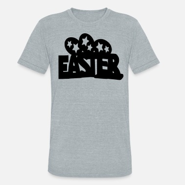 Easter Egg Easter txt & Easter  eggs - Unisex Tri-Blend T-Shirt