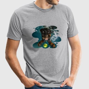 Underwater Dogs Milo by Seth Casteel - Unisex Tri-Blend T-Shirt