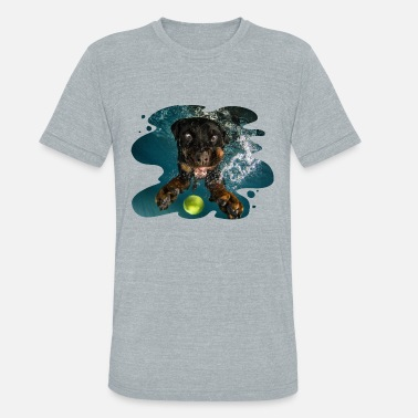 Seth Casteel Underwater Dogs Milo by Seth Casteel - Unisex Tri-Blend T-Shirt