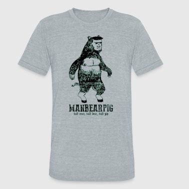 Manbearpig South Park Mythical Beast Funny Vintage - Unisex Tri-Blend T-Shirt