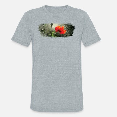 Poppy Poppies in the rain paint stroke - Unisex Tri-Blend T-Shirt