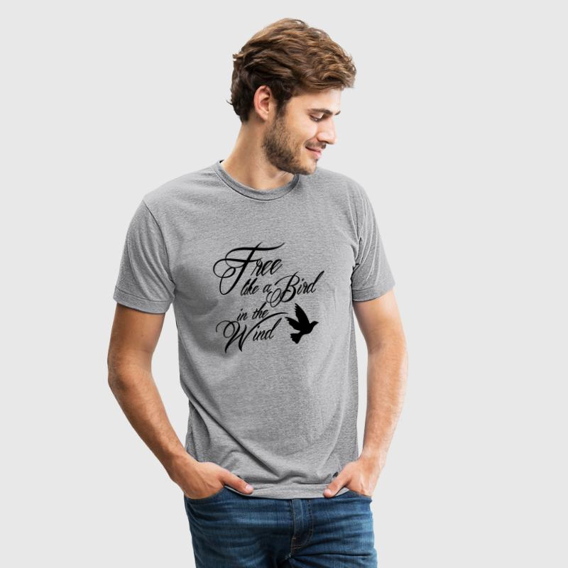 Free like a Bird in the Wind - Unisex Tri-Blend T-Shirt