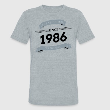 Established since 1986 - Unisex Tri-Blend T-Shirt