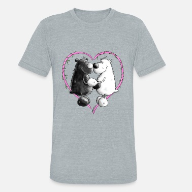 Love Bears Love Bears - Bear - Teddy - Unisex Tri-Blend T-Shirt