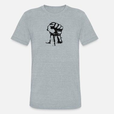 Fighting Fists Fight the power fist - Unisex Tri-Blend T-Shirt