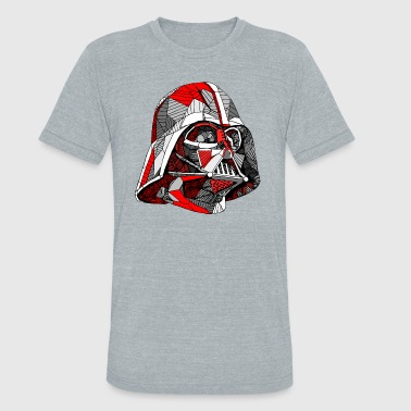 Father Vader Abstract Vader - Unisex Tri-Blend T-Shirt