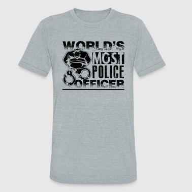 Awesome Police Officer Shirt - Unisex Tri-Blend T-Shirt
