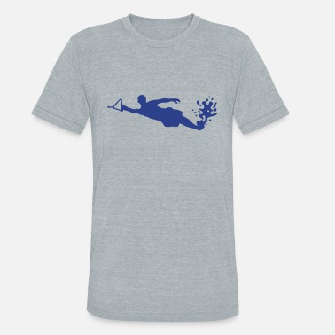 Water Skiing water ski 0 - Unisex Tri-Blend T-Shirt