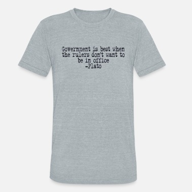 Plato Quotes Plato on Government - Unisex Tri-Blend T-Shirt