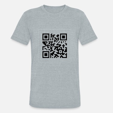 Qrcode the cake is a lie Qrcode - Unisex Tri-Blend T-Shirt