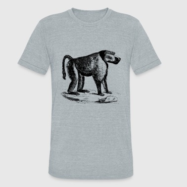 Chimpanzee Monkey Art - Unisex Tri-Blend T-Shirt