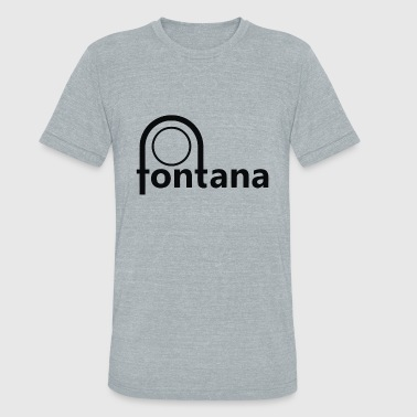 Fontana Fontana Records - Unisex Tri-Blend T-Shirt