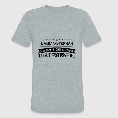 Stephane Mythos Legende Vorname Damian Stephan - Unisex Tri-Blend T-Shirt