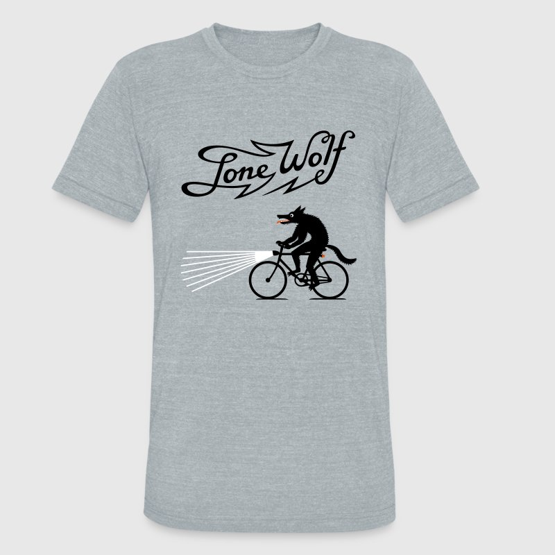 Lone Wolf on bike - Unisex Tri-Blend T-Shirt